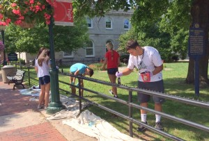 students workday at church, Aug 2015