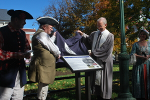 dedication of wayside marker, oct 25, 2009