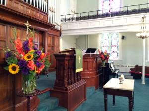 Sanctuary flowers, July 26, 2015